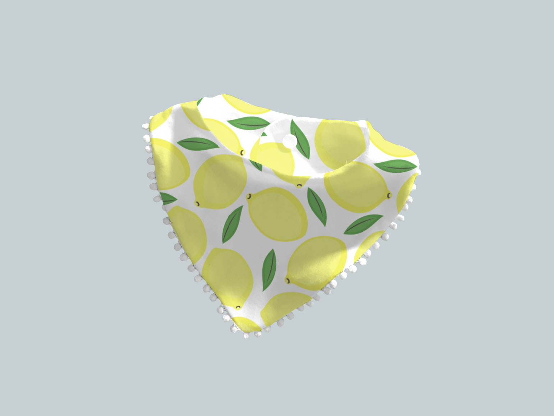 Bib Scarf with Trim - Lively Lemons