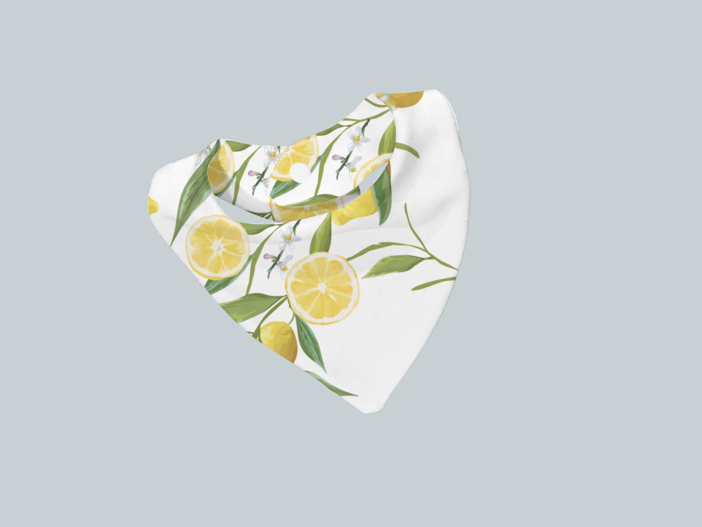 Bib Scarf - Lemons Detailed Floral