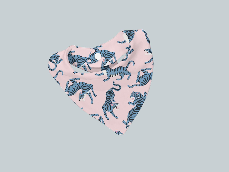 Bib Scarf - Blue & Pink Tigers