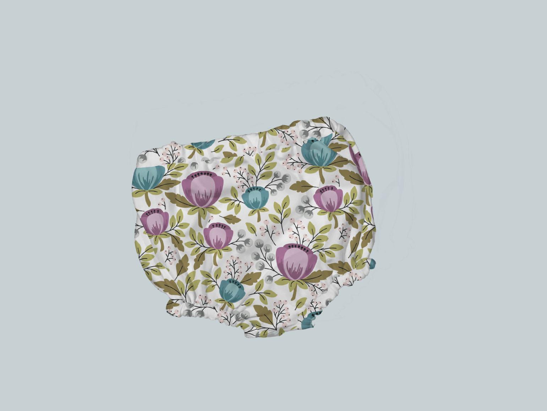 Bummies/Diaper Cover - Floral Teal Purple