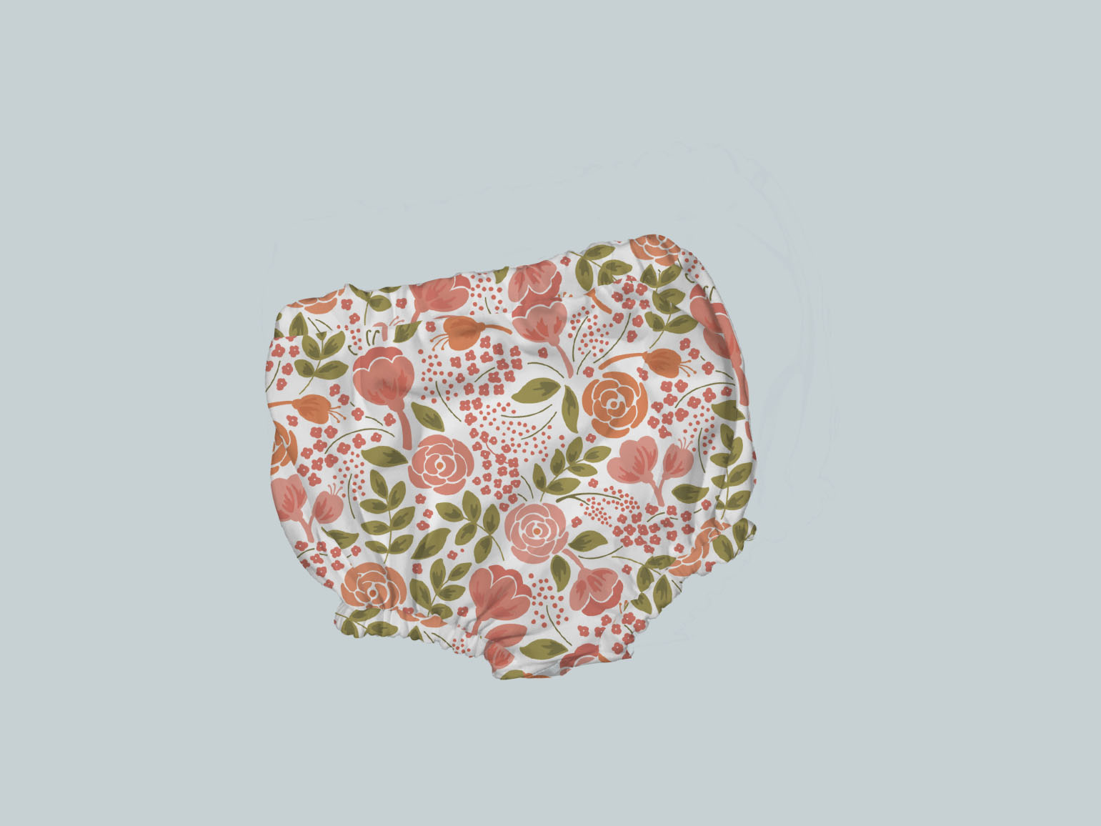 Bummies/Diaper Cover - Coral Flowers