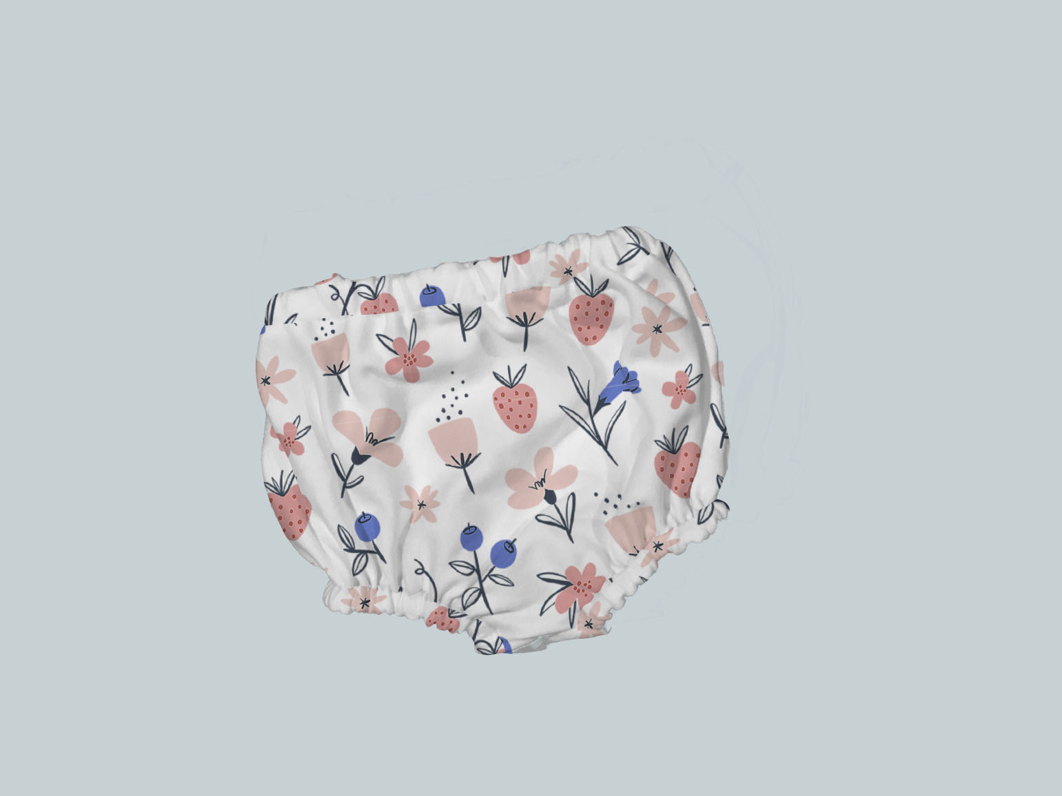 Bummies/Diaper Cover - Abstract Flowers & Berries
