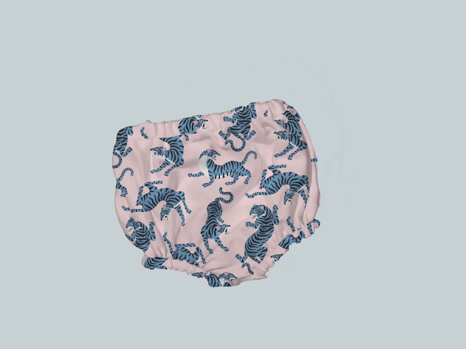 Bummies/Diaper Cover - Blue & Pink Tigers