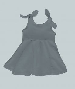 Dress with Shoulder Ties - Dark Gray