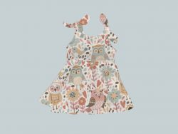 Dress with Shoulder Ties - Owl Folk