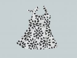 Dress with Shoulder Ties - Spotted Dottie