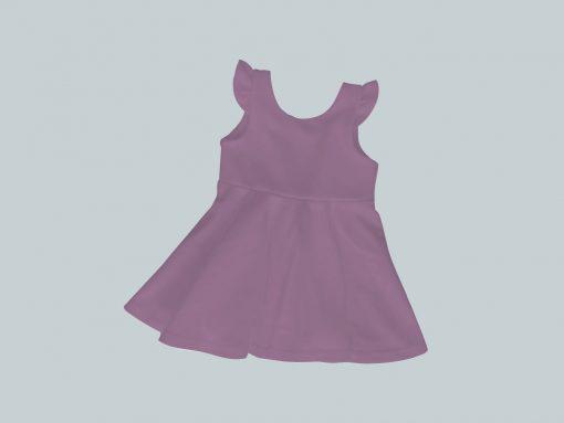 Dress with Ruffled Sleeves - Purple
