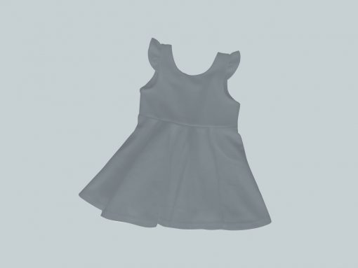 Dress with Ruffled Sleeves - Gray Green