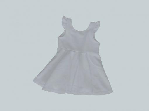 Dress with Ruffled Sleeves - Light Gray