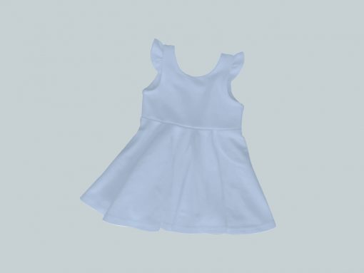 Dress with Ruffled Sleeves - Blue