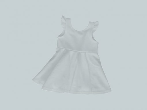 Dress with Ruffled Sleeves - Light Blue