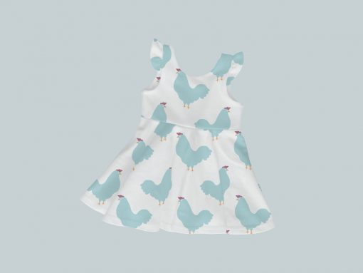 Dress with Ruffled Sleeves - Chicken Chick