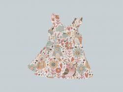 Dress with Ruffled Sleeves - Owl Folk