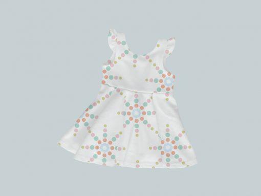 Dress with Ruffled Sleeves - Starlight