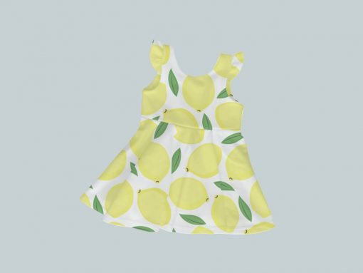 Dress with Ruffled Sleeves - Lively Lemons
