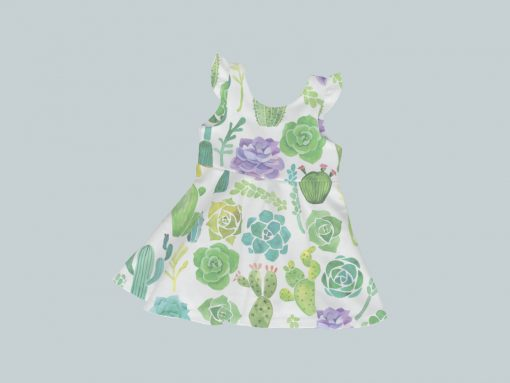 Dress with Ruffled Sleeves - Prickly