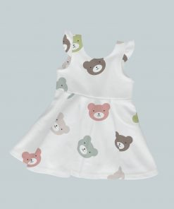 Dress with Ruffled Sleeves - All Over Bears
