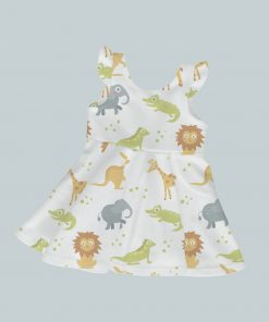 Dress with Ruffled Sleeves - Animal Crackers