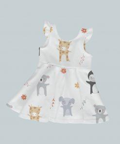Dress with Ruffled Sleeves - Animal Dance