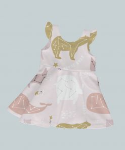 Dress with Ruffled Sleeves - Animals in Stars