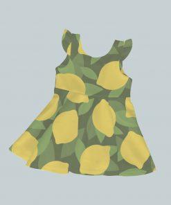 Dress with Ruffled Sleeves - All Lemon