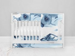 Bumperless Crib Set with Modern Skirt and Modern Rail Covers - Island Dreams