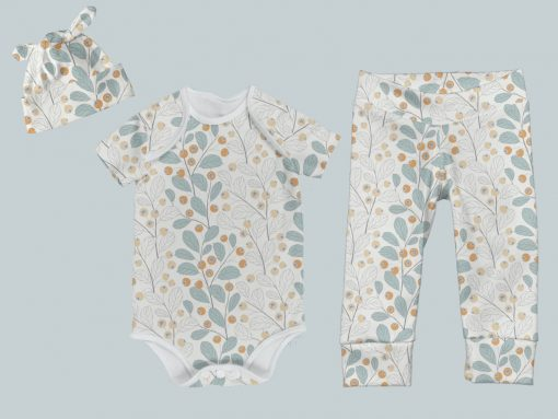 Everyday Set with Onesie, Joggers and Knotted Hat - Wall Flower